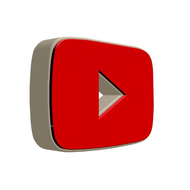 Youtube Icon, Youtube, Icon, 3d PNG Transparent Clipart.