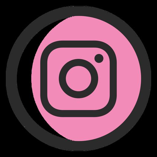 Instagram colored stroke icon.