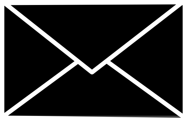 Mail Icon (white On Clear) Clip Art at Clker.com.