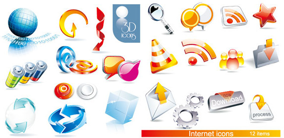 Vector 3d icons free vector download (29,939 Free vector.