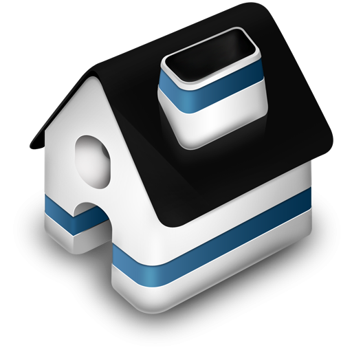 3D House Icon, PNG ClipArt Image.