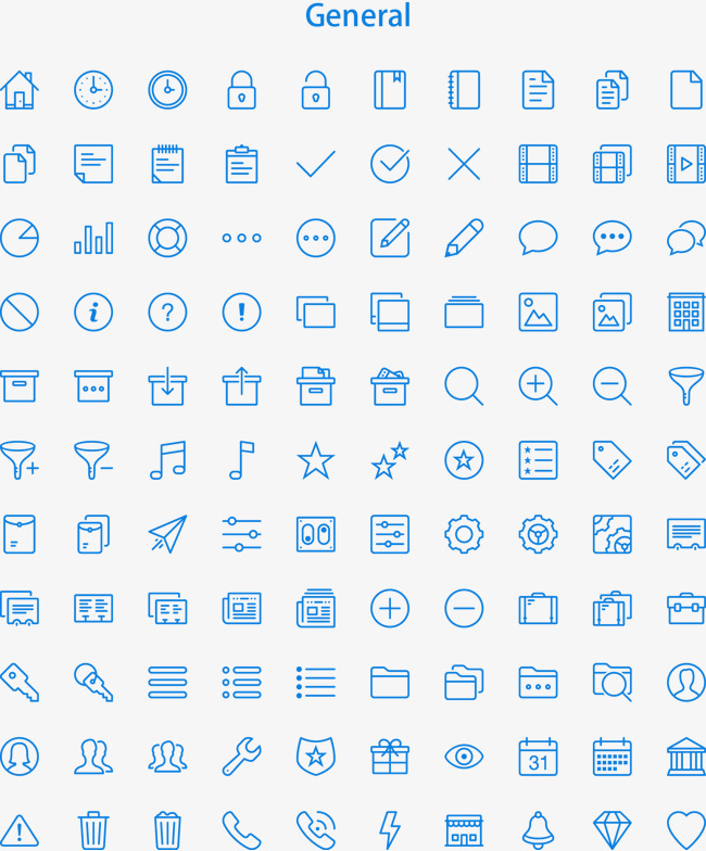 Vector Blue Icon Set, Blue Icon, Blue, Icon PNG and Vector with.