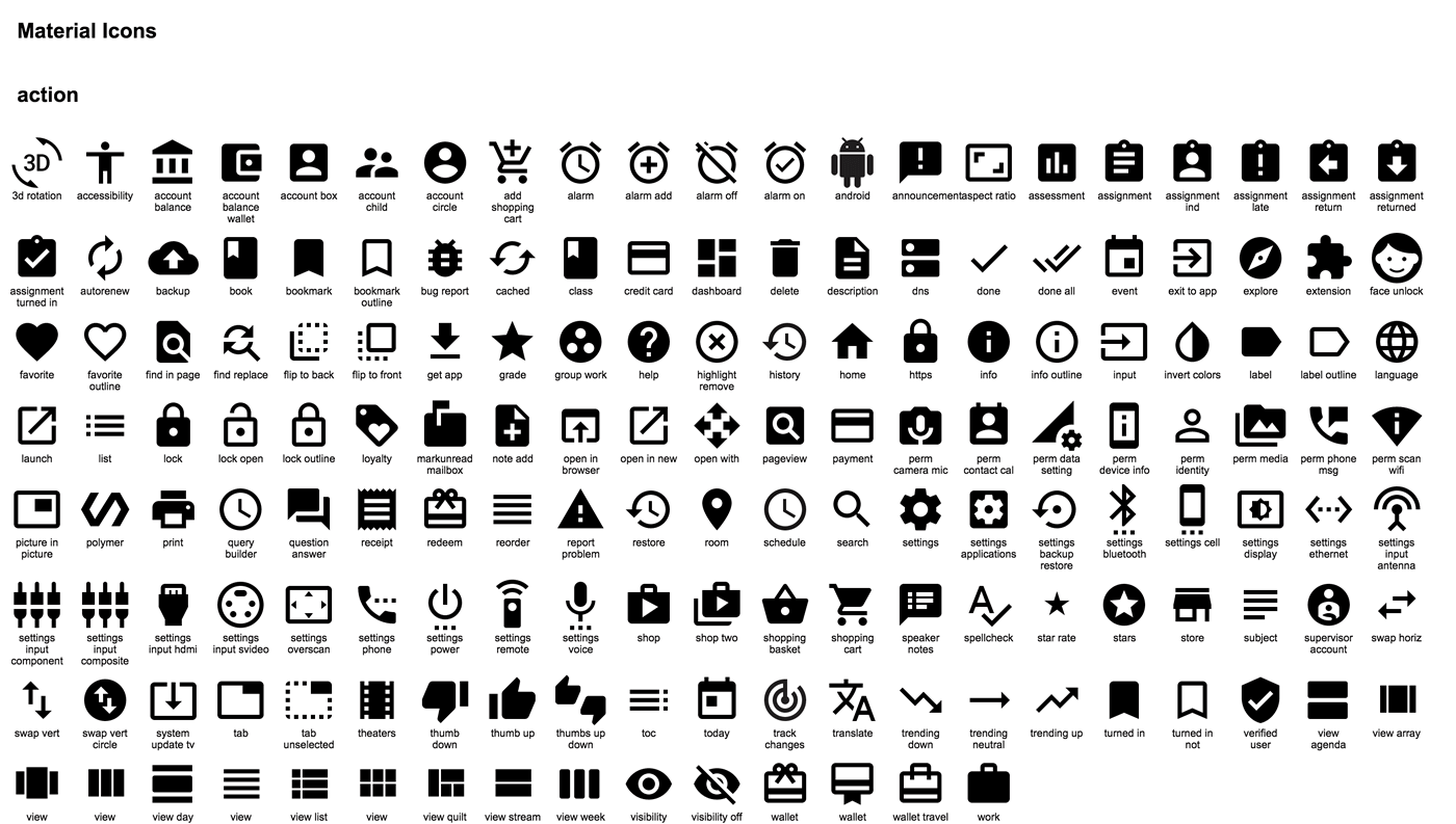 Material Design Icons Kit.