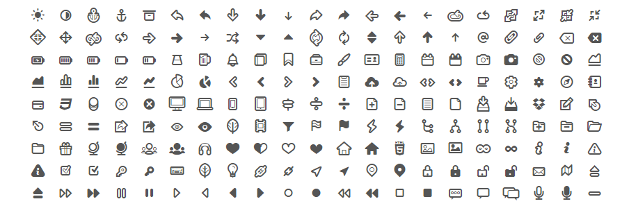 Icon fonts: List of 41 Beautiful & Free Icon Fonts.
