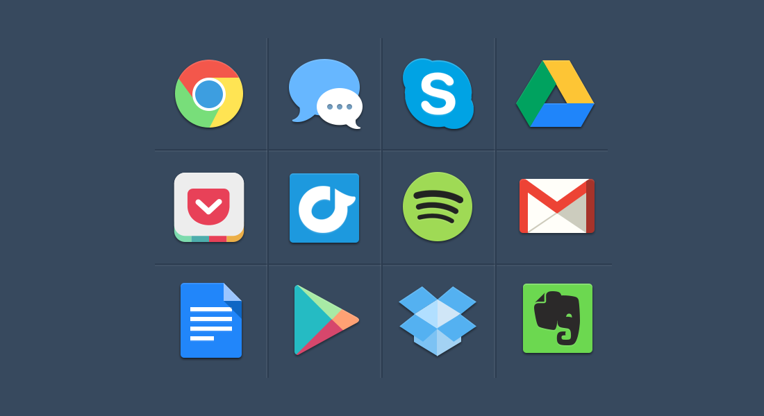 20 Beautiful Free Flat Social Media Icons Sets 2019.