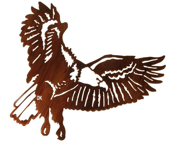 Iconic American Eagle Metal Wall Sculpture.