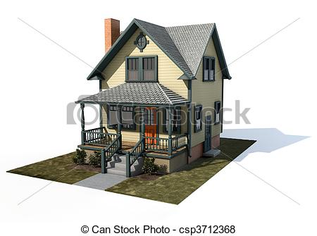 Stock Illustration of American Home.