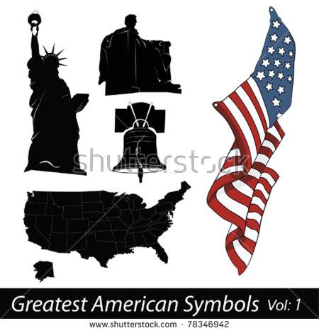 Greatest American Symbols Stock Vector 78346942.