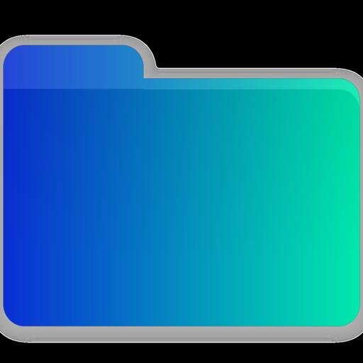 Icono Video, carpeta, blanco Gratis de Gradient Folders.
