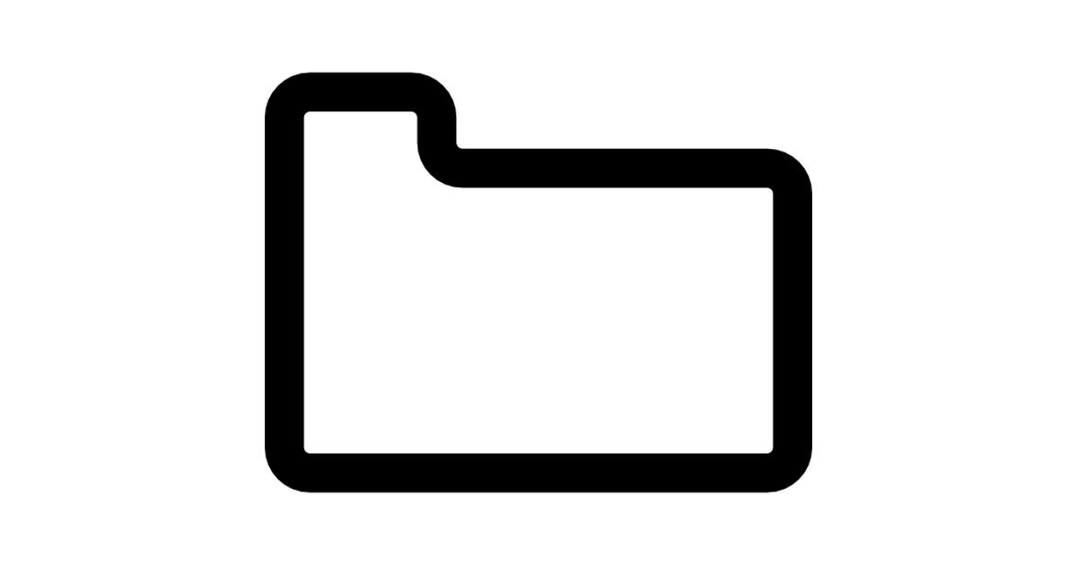 símbolo de interfaz de esquema de carpeta blanca.
