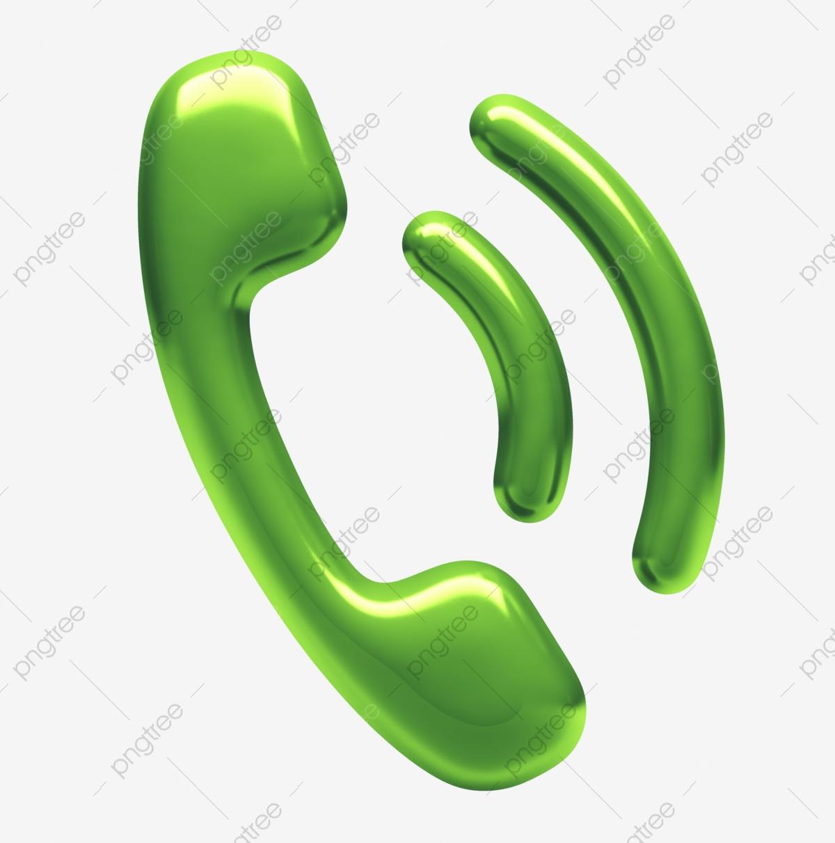 Icono De Llamada 3D Call Venir Verde Archivo PNG y PSD para.