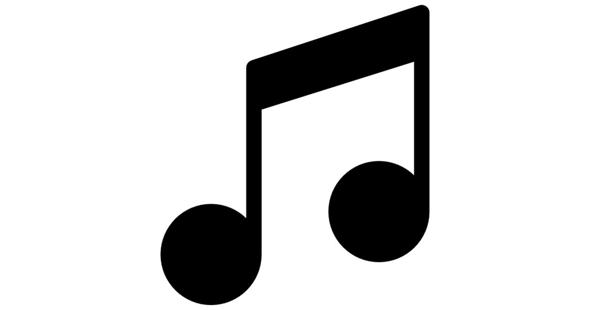 signo de reproductor de música.
