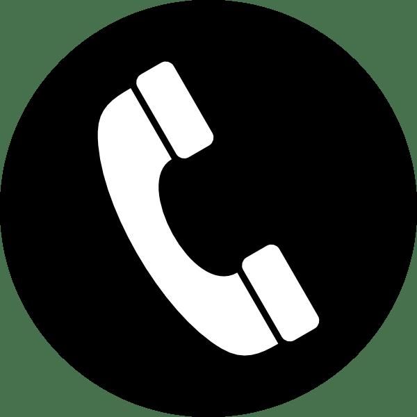 Icono Teléfono en Círculo PNG transparente.
