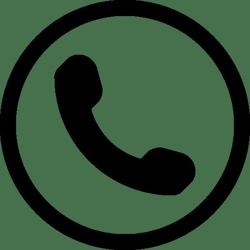 Icono Simple Teléfono en Círculo PNG transparente.