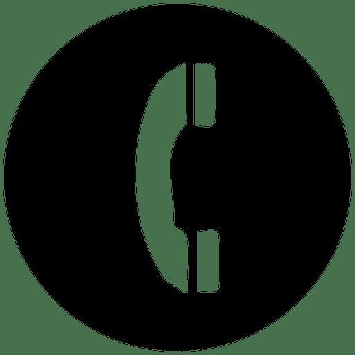 Icono de servicio de teléfono redondo.