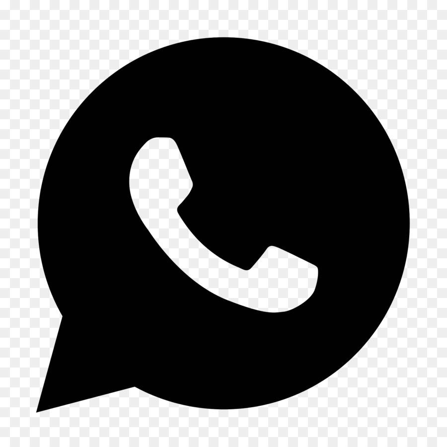 Whatsapp Icon Silhouette.