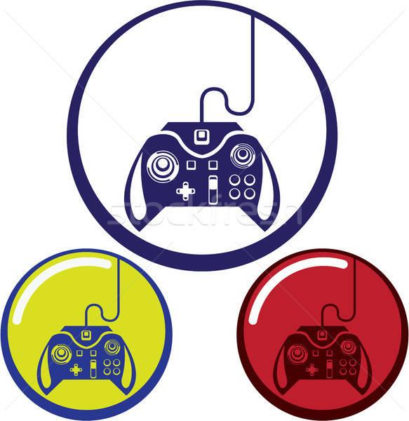 Dispositivo · de · juego · icono · clipart · eps · vector.