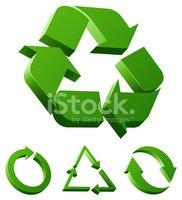 Reciclar Iconos vectores en stock.
