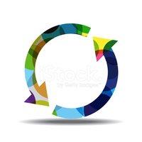 Reciclar Flecha Colorido Vector Icono Diseño vectores en.