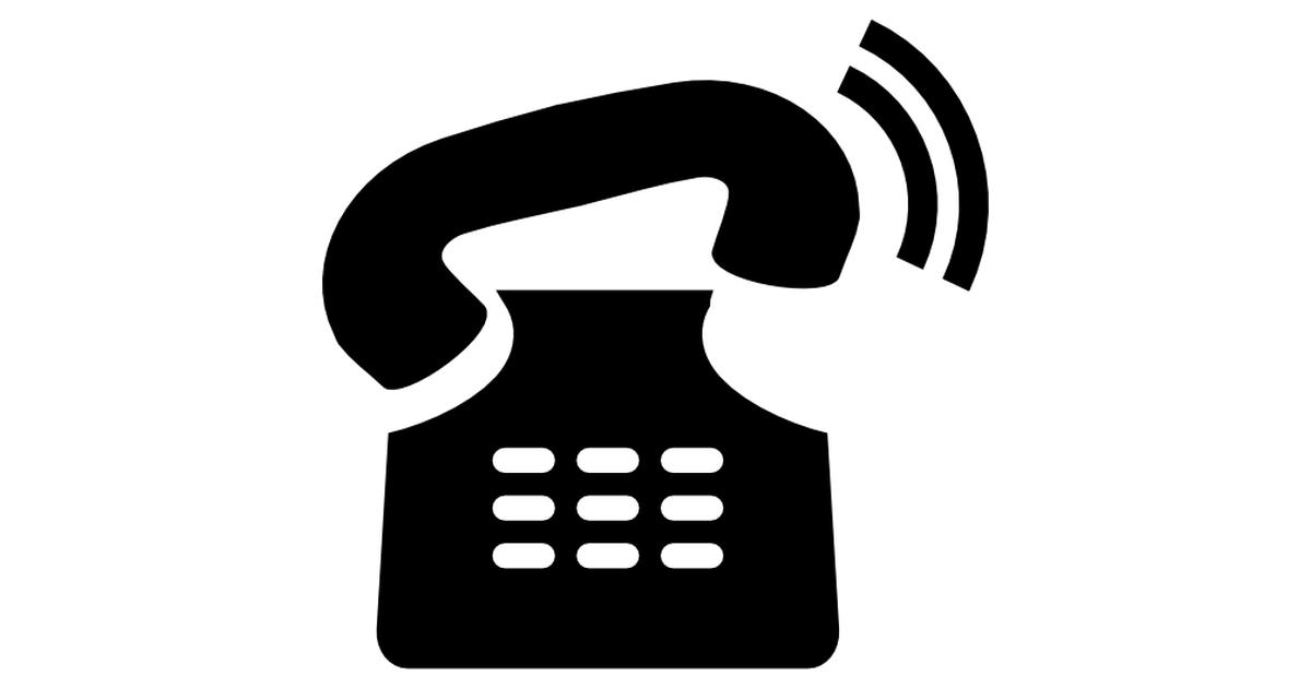 teléfono viejo sonando.