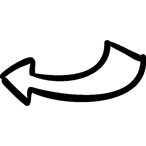 flecha dibujada hacia atrás.
