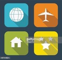 Icono Plano Moderno Set Para Web Y Aplicaciones Móviles.