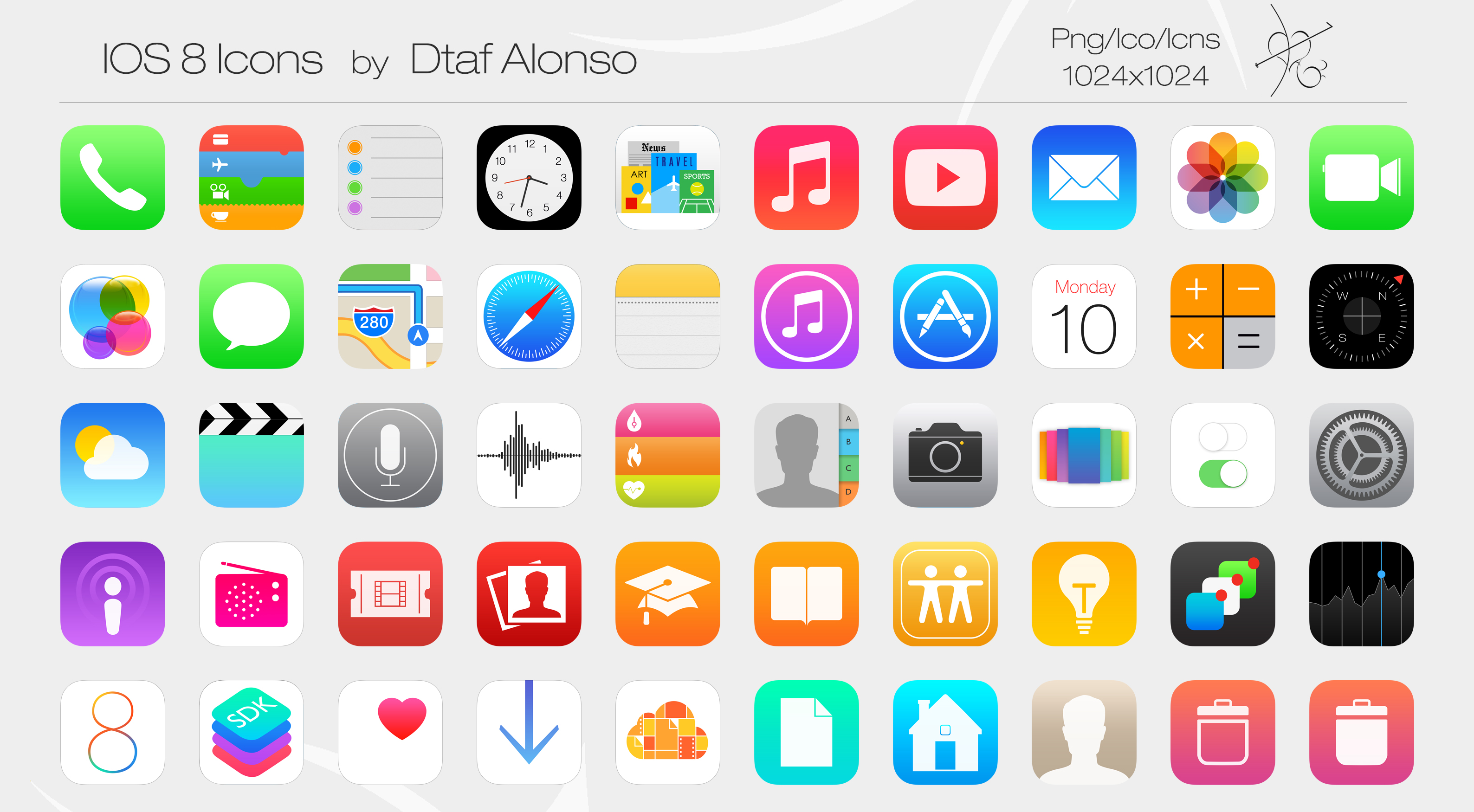 iOS 8 Icons by dtafalonso on DeviantArt.