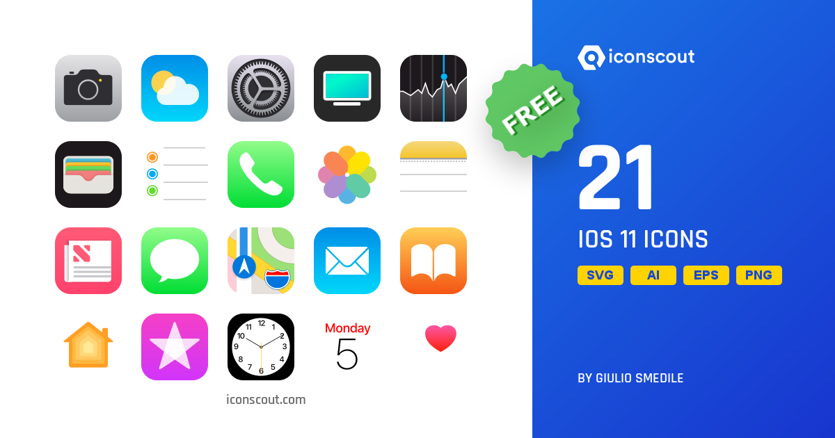 Download IOS 11 Icon pack.