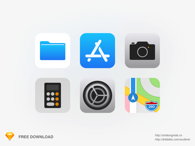 iOS11 Icons Pack Freebie.