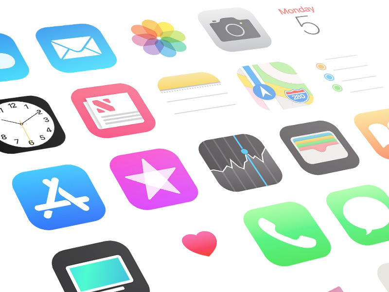iOS 11 App Icons Sketch freebie.