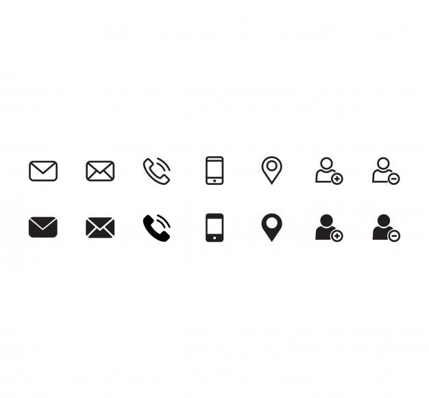 Iconos De Contacto.