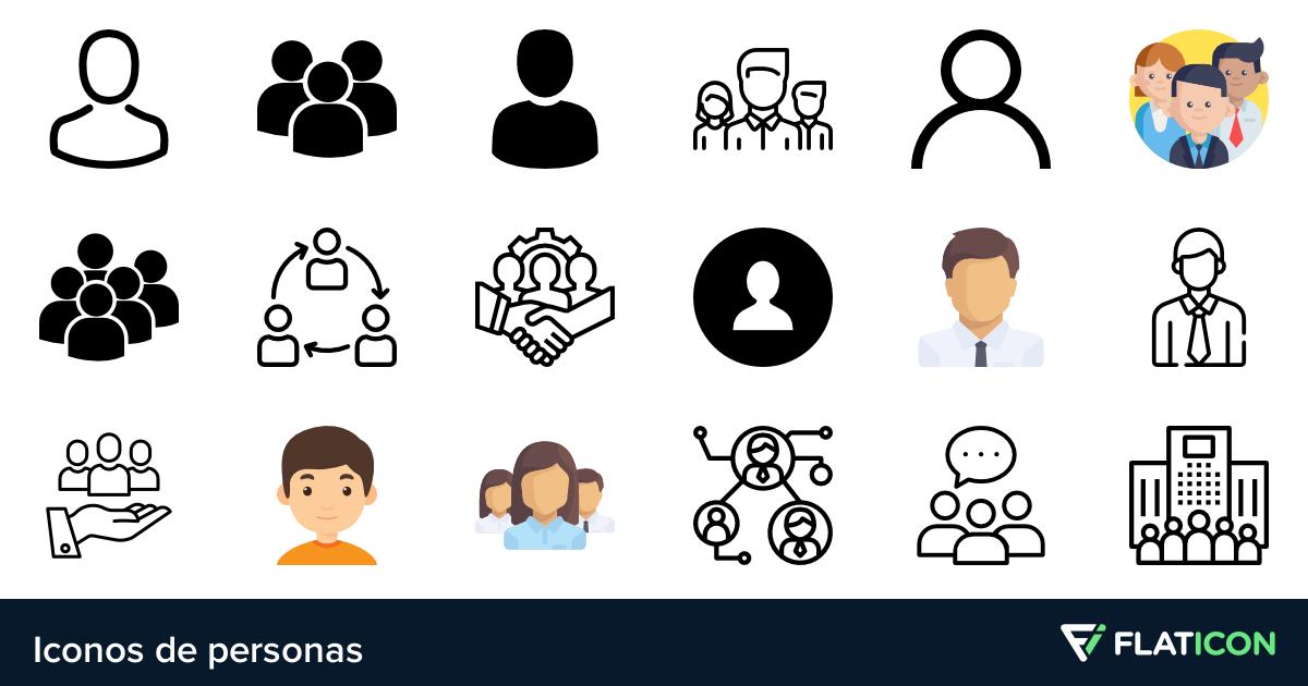 Iconos de Personas.