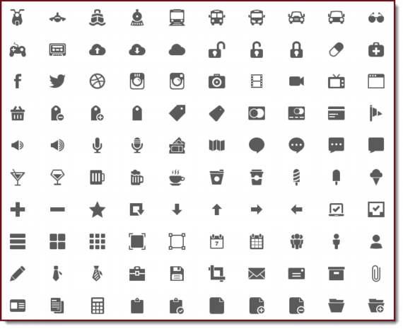Pack con más de 600 iconos en formatos PNG y PSD.