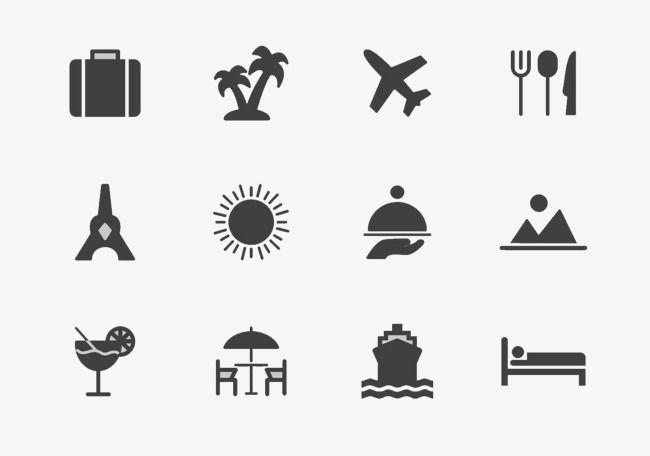 Icono De Dibujos Animados De Aviones De Viajes, Black, Icono.
