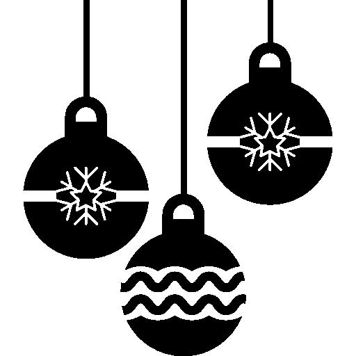 Navidad tres burbujas que cuelgan.
