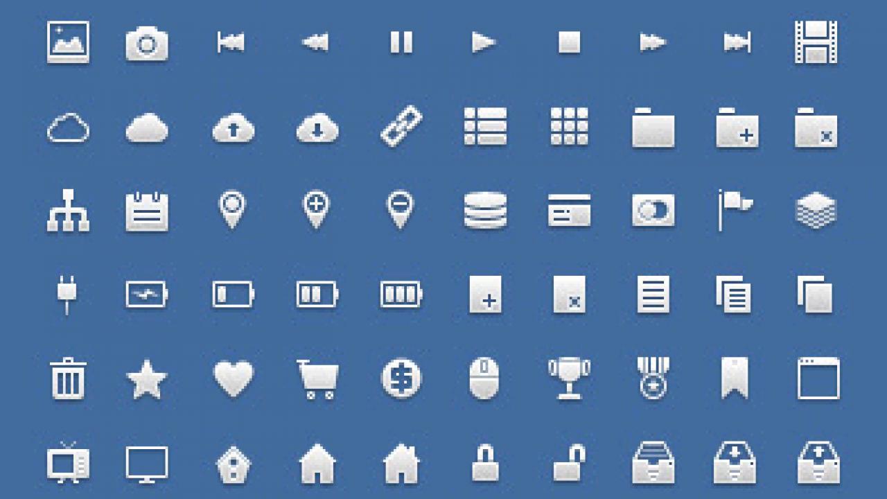 Iconos gratis para aplicaciones web.