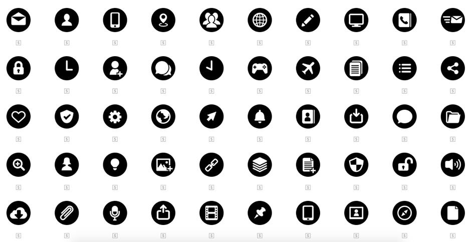 Los mejores repositorios de iconos para diseñadores visuales.