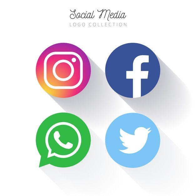 Popular Social Media circular logo collection Free Vector in.