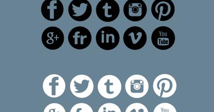 10 iconos gratis de redes sociales con el fondo transparente.