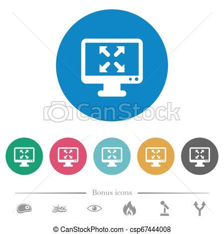 Cambia a visión completa de iconos redondos planos. Cambia a.