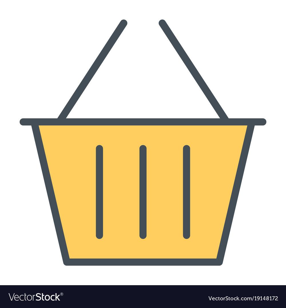 Shopping basket pixel perfect line icon 48x48.