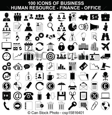 Free Business Icons Clipart.
