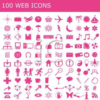 100 Web Icons.