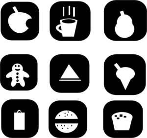 Snack Icons Clip Art at Clker.com.