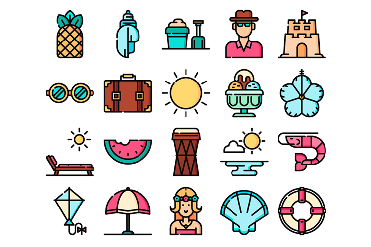 Freebie: The Tropical Icon Set (50 Icons, SVG & PNG).