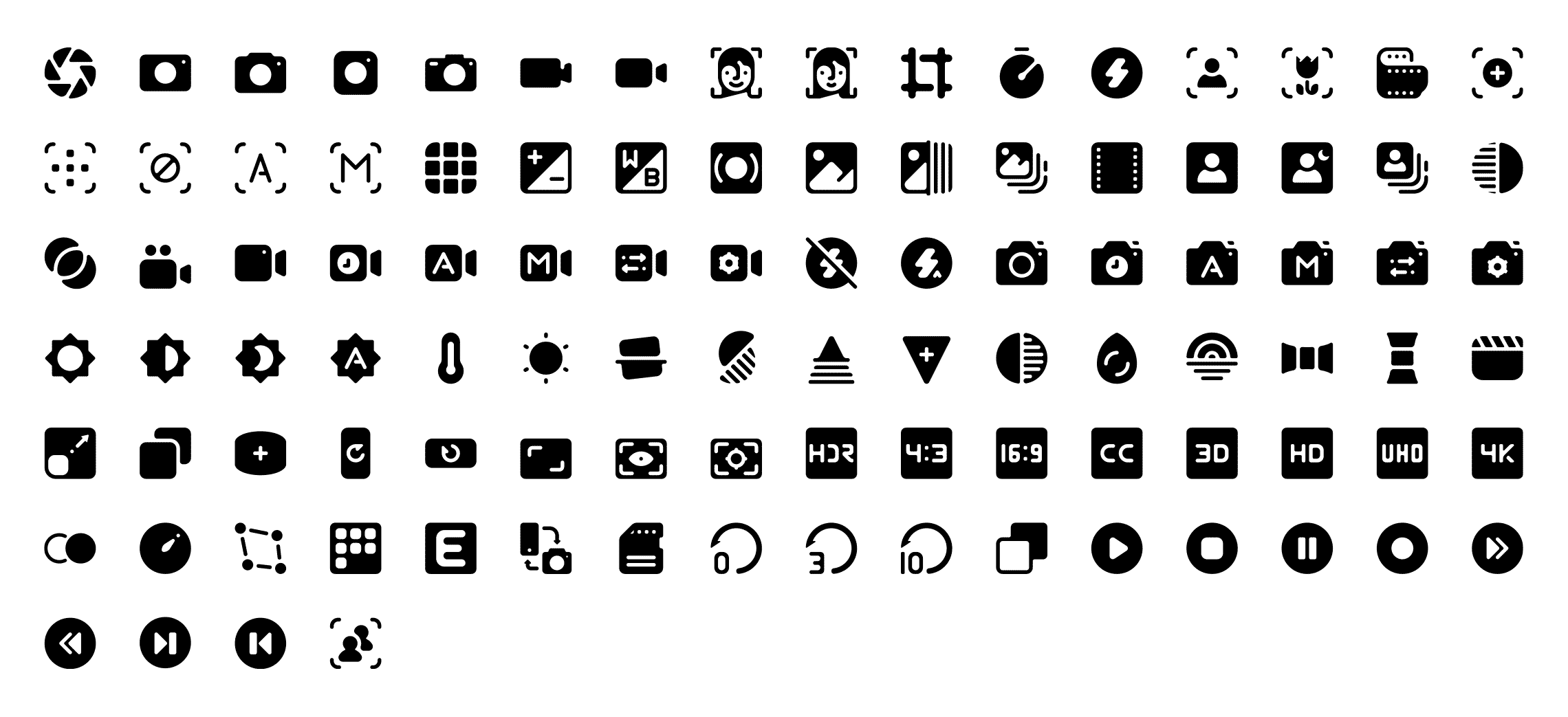 2200 Roundies Solid Vector Icons Pack.