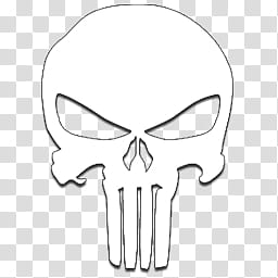The Punisher logo iCons, White Logo_x, The Punisher icon.