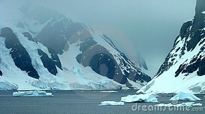 Icy Landscape In Antarctica Royalty Free Stock Photo.