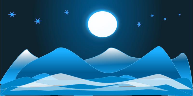 Ice Landscape Clipart.