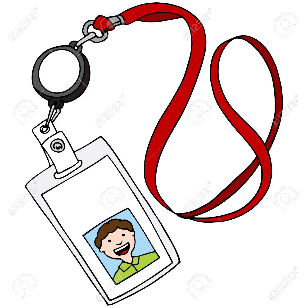 An image of a lanyard id identification badge..